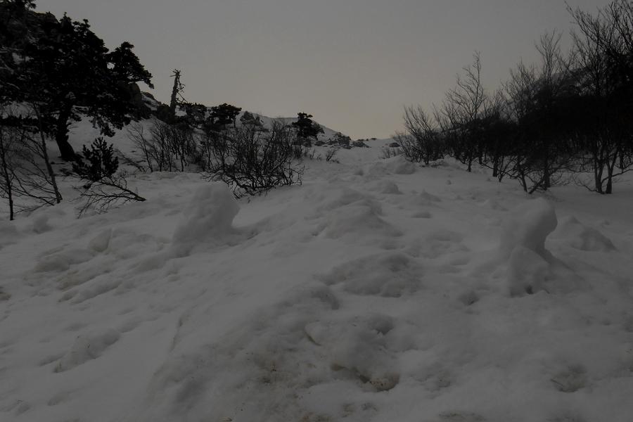 Minor avalanche