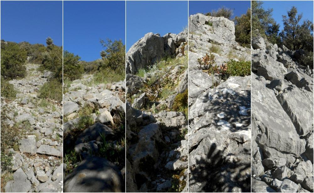 from scrambling to climbing