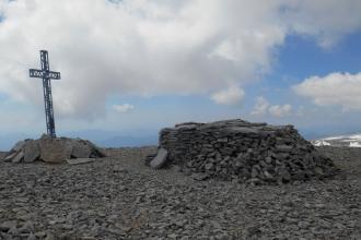 Summit Cross, Mt. Aquaviva 2737m
