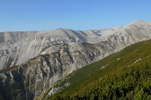 The prolonged ridge of Mt. Sant'Angelo