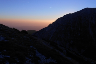 The northwest ridge just before sunrise