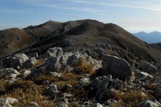 The northwest ridge and Monte Miletto