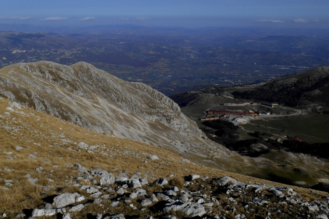 Campitello Matese seen from the foresummit