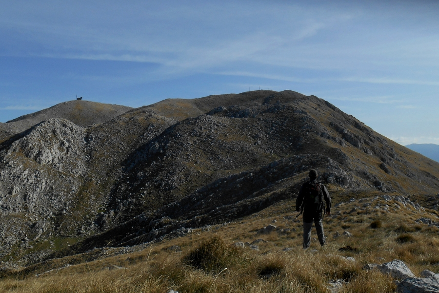 Towards the summit of Monte Miletto