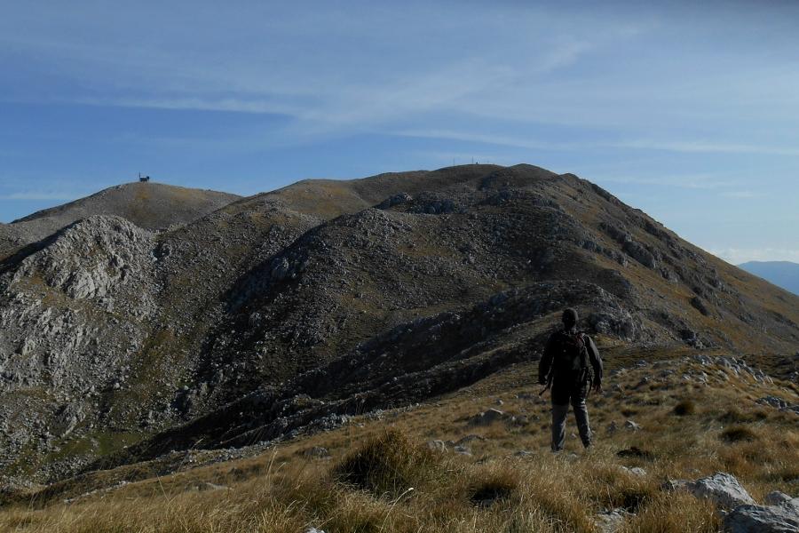 Towards the summit of Monte Miletto