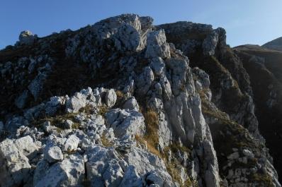 The ridge up to Colle Tamburo