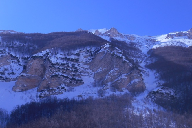 Escarpment of the valley