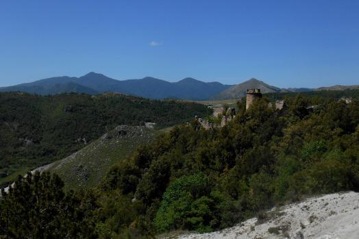 The monastry and the Orsomarso mountain range