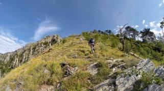 Ascending the south-east ridge