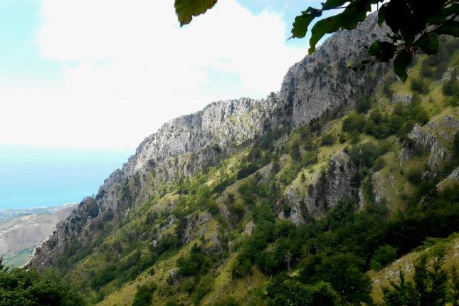 The south-western escarpment