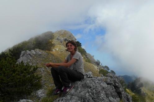 Monte Canitello (the central col)