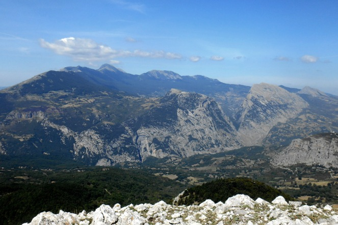 The Pollino massif from the summit of Monte Sellaro